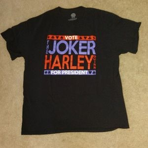 Joker Harley Quinn Campaign T shirt XL Fandom DC